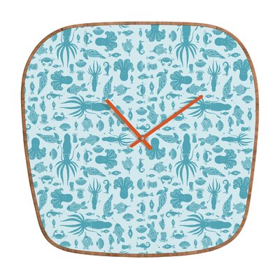 DENY Designs Jennifer Denty Sea Creatures Wall Clock