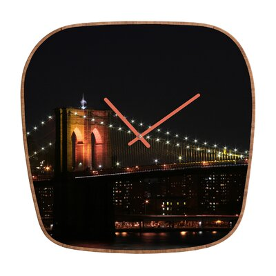 DENY Designs Leonidas Oxby Brooklyn Bridge 2 Clock