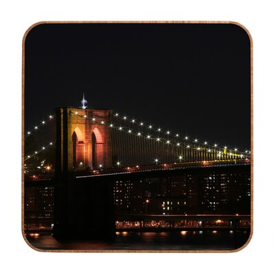 DENY Designs Brooklyn Bridge 2 by Leonidas Oxby Framed Photographic Print Plaque