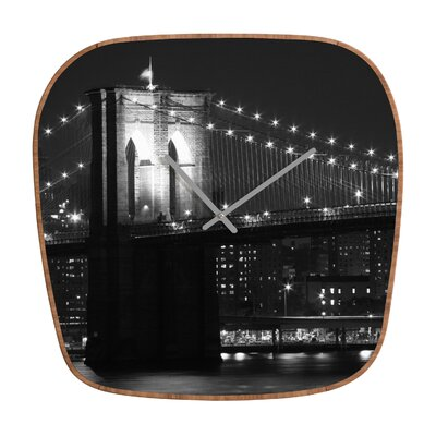 DENY Designs Leonidas Oxby Brooklyn Bridge Wall Clock