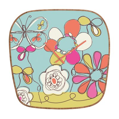 DENY Designs Rachael Taylor Fun Floral Wall Clock