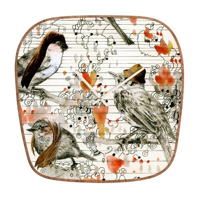 DENY Designs Randi Antonsen Love Birds Clock