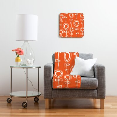 DENY Designs Contemporary Orange by Rachael Taylor Framed Graphic Art Plaque