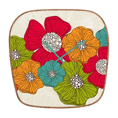 DENY Designs Valentina Ramos Flowers Wall Clock