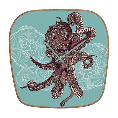 DENY Designs Valentina Ramos Octopus Bloom Wall Clock