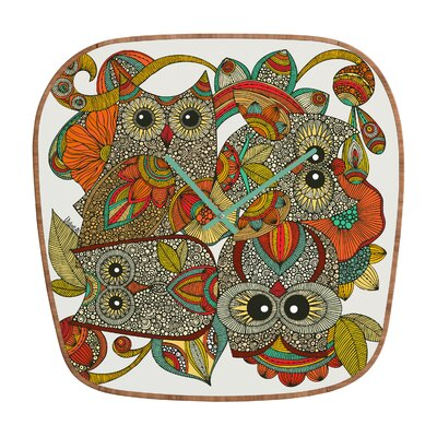DENY Designs Valentina Ramos 4 Owls Wall Clock