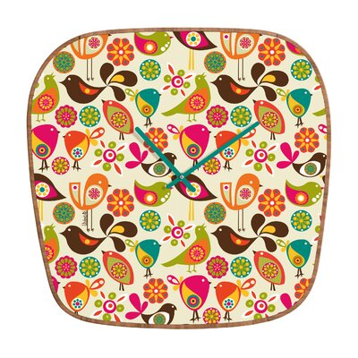 DENY Designs Valentina Ramos Little Birds Clock