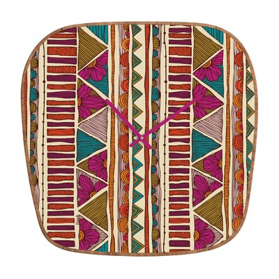 DENY Designs Valentina Ramos Ethnic Stripes Clock