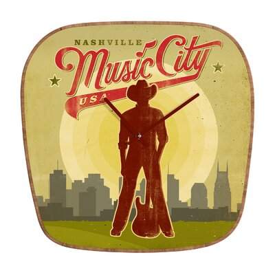 DENY Designs Anderson Design Group Music City Wall Clock