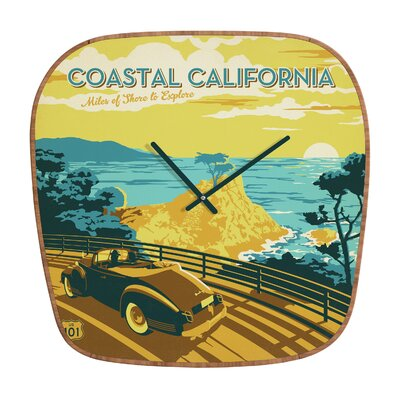 DENY Designs Anderson Design Group Coastal California Wall Clock