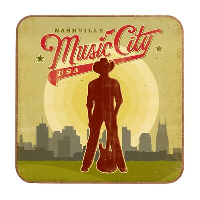 DENY Designs Music City by Anderson Design Group Framed Vintage Advertisement Plaque