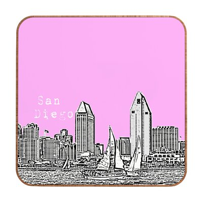 DENY Designs San Diego by Bird Ave. Framed Graphic Art Plaque