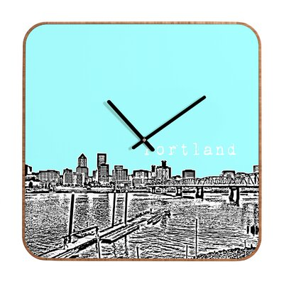 DENY Designs Bird Ave Portland Wall Clock