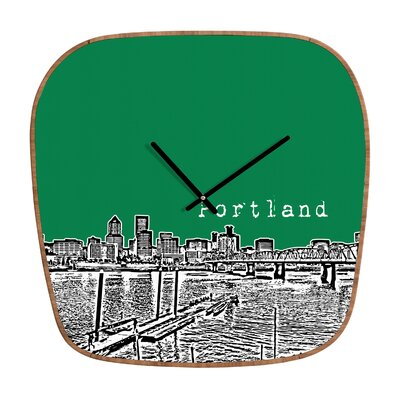 DENY Designs Bird Ave Portland Clock
