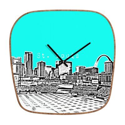 DENY Designs Bird Ave St Louis Wall Clock