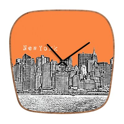 DENY Designs Bird Ave New York Wall Clock