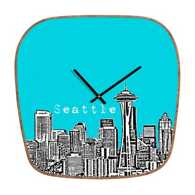 DENY Designs Bird Ave Seattle Wall Clock