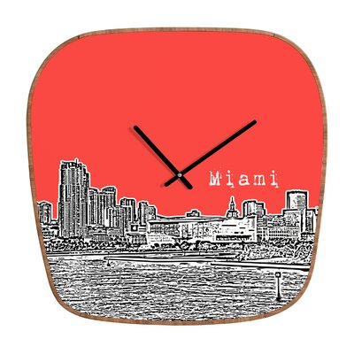 DENY Designs Bird Ave Miami Wall Clock