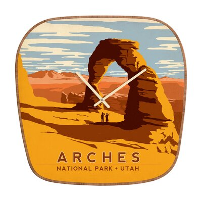 DENY Designs Anderson Design Group Arches Wall Clock