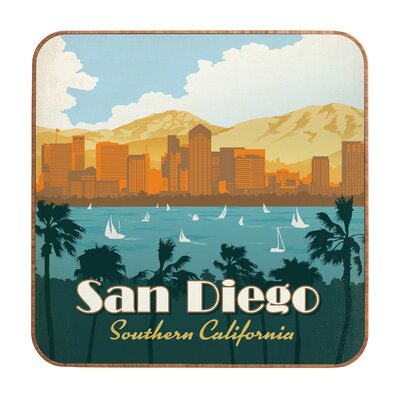 DENY Designs San Diego by Anderson Design Group Framed Vintage Advertisement Plaque
