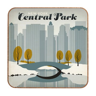 DENY Designs Central Park Snow by Anderson Design Group Framed Vintage Advertisement Plaque