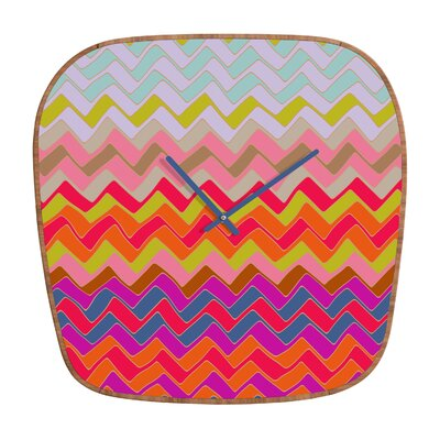 DENY Designs Sharon Turner Geo Chevron Clock