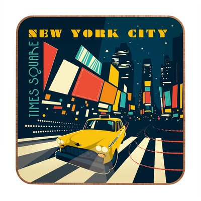 DENY Designs NYC Times Square by Anderson Design Group Framed Vintage Advertisment