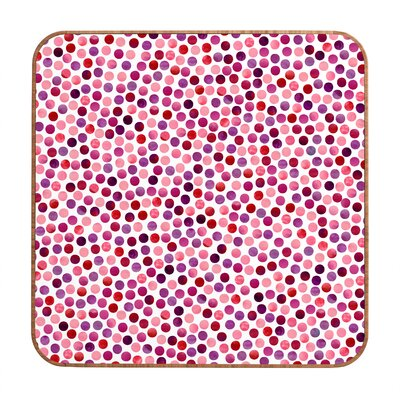 DENY Designs Watercolor Dots Berry by Garima Dhawan Framed Graphic Art Plaque