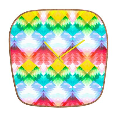 DENY Designs Deniz Ercelebi Crystal Rainbow Wall Clock
