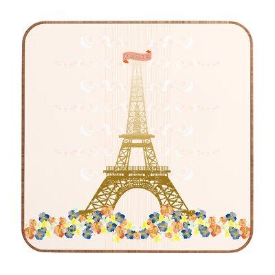 DENY Designs Paris Eiffel Tower by Jennifer Hill Framed Graphic Art Plaque
