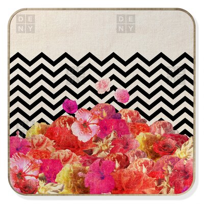 DENY Designs Bianca Green Chevron Flora 2 BlingBox Face