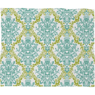 DENY Designs Rebekah Ginda Design Lovely Damask Polyesterrr Fleece Throw Blanket