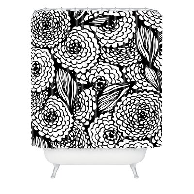 DENY Designs Julia Da Rocha Bouquet of Flowers Love Woven Polyesterrr Shower Curtain