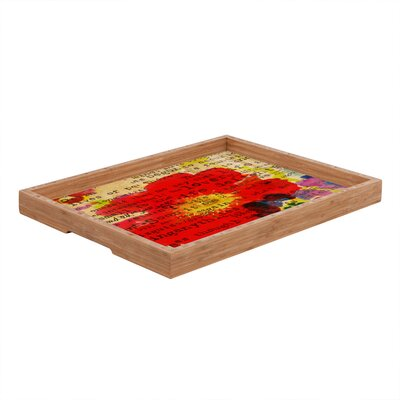 DENY Designs Irena Orlov Poppy Poetry 2 Rectangular Tray