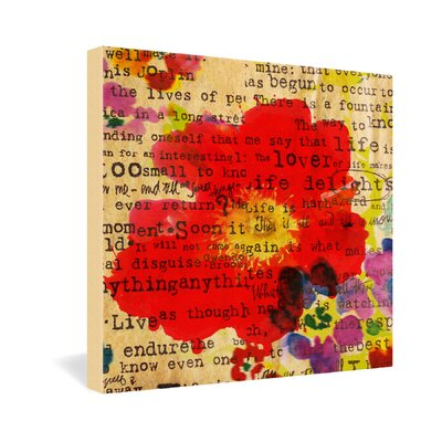 DENY Designs Poppy Poetry 2 by Irena Orlov Graphic Art on Canvas