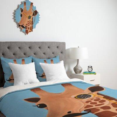 DENY Designs Mandy Hazell Gentleman Giraffe Microfiber Duvet Cover