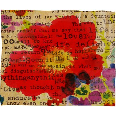 DENY Designs Irena Orlov Poppy Poetry 2 Polyesterrr Fleece Throw Blanket