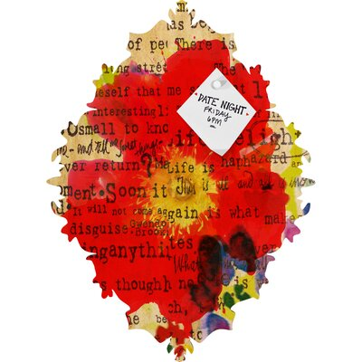 DENY Designs Irena Orlov Poppy Poetry 2 Baroque Magnet Board