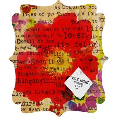 DENY Designs Irena Orlov Poppy Poetry 2 Quatrefoil Bulletin Board