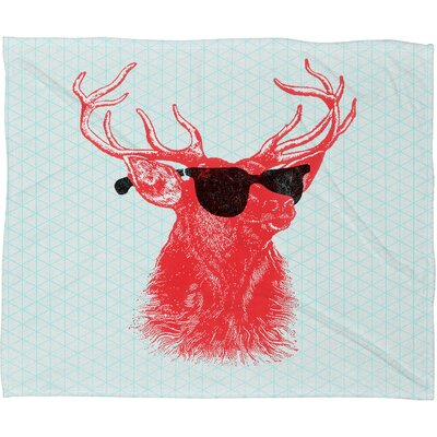 DENY Designs Nick Nelson Young Buck Polyesterrr Fleece Throw Blanket