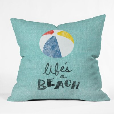 DENY Designs Nick Nelson Lifes A Beach Throw Pillow