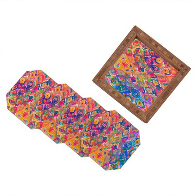 DENY Designs Amy Sia Watercolour Ikat 3 Coaster