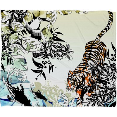 DENY Designs Aimee St Hill Tiger Tiger Polyesterrr Fleece Throw Blanket