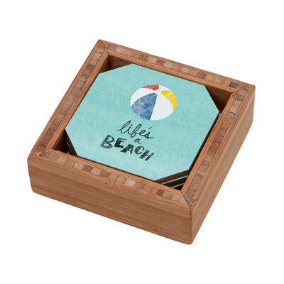 DENY Designs Nick Nelson Lifes A Beach Coaster
