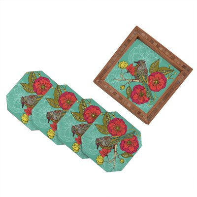 DENY Designs Valentina Ramos Contented Constance Coaster (Set of 4)