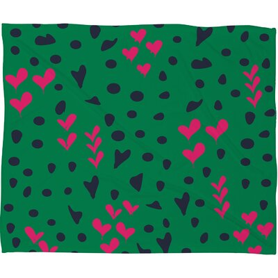DENY Designs Vy La Animal Love Polyesterr Fleece Throw Blanket