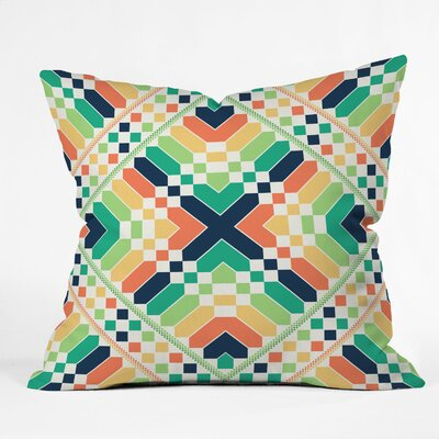 DENY Designs Budi Kwan Retrographic Rainbow Throw Pillow