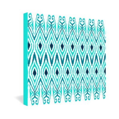 DENY Designs Amy Sia Ikat Jade Gallery Wrapped Canvas