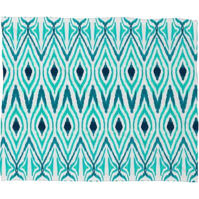 DENY Designs Amy Sia Ikat Jade Polyesterrr Fleece Throw Blanket