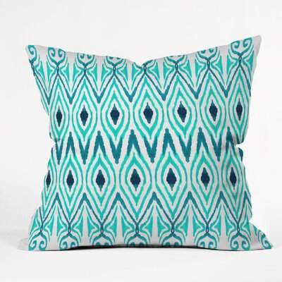 DENY Designs Amy Sia Ikat Jade Throw Pillow